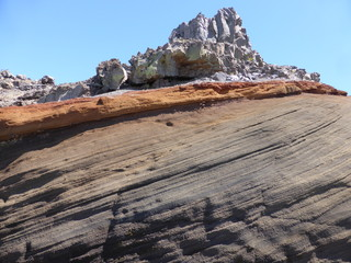 Volcanic rock layers on the island of La Palma, one of the Canary Islands 4