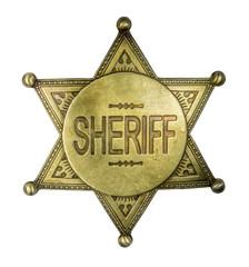 Isolated Vintage Sheriff Badge