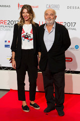 Actor Gerard Jugnot and a guest attend the opening of the Lumiere 2017 Grand Lyon Film Festival in Lyon