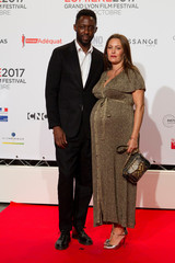 Actor Karole Rocher and director Thomas Ngijol attend the opening of the Lumiere 2017 Grand Lyon Film Festival in Lyon