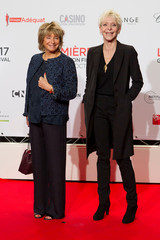 Directors Daniele Thompson and Tonie Marshall attend the opening of the Lumiere 2017 Grand Lyon Film Festival in Lyon