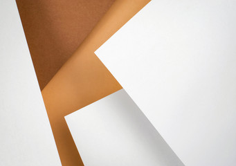 abstract composition of ocher white papers