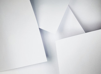composition of white paper sheets