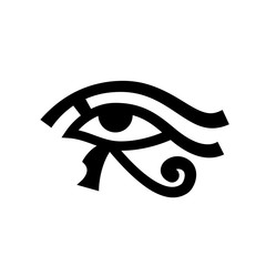 Horus eye (Wadjet), Eye of Ra. Ancient Egyptian Hieroglyphic Mystical Sign.