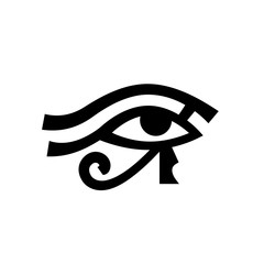 Horus eye (Wadjet), Eye of Ra. Antique Egyptian hieroglyphic mystical sign.