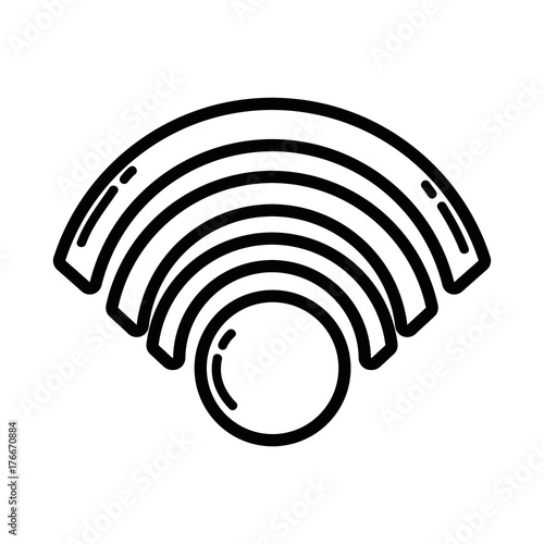 Line Wifi Symbol To Connection In The Digital Web Stock Image And