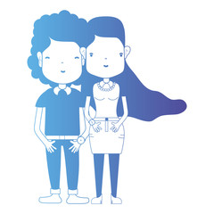 line couple together with hairstyle and clothes