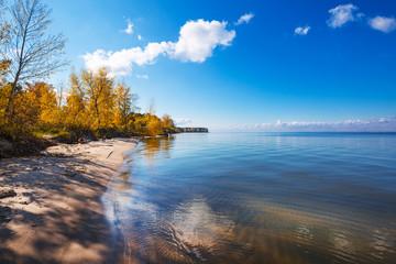Autumn landscape. Ob reservoir, Novosibirsk region, Berdsk, Siberia, Russia