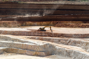 Open quarry for the extraction of kaolin