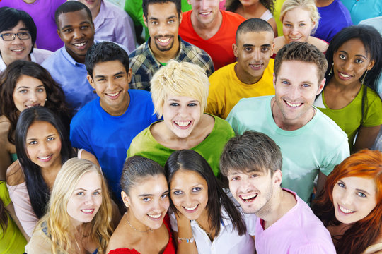 Group of diverse young people