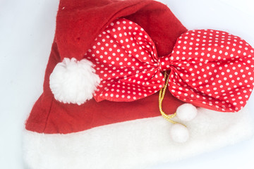 santa clause hat on the white background, Santa clause isolated