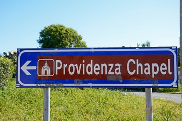Providenza Chapel sign, Malta.