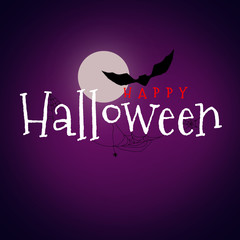 Happy Halloween text on dark background