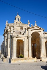 Front view of Providenza Chapel, Tal Providenza, Malta.