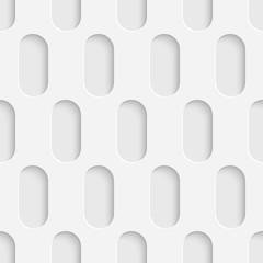 Seamless Tech Wallpaper. White Ellipse Background