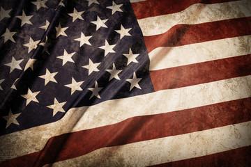 United States of grunge America flag