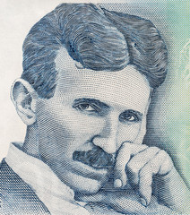 Portrait of scientist Nikola Tesla