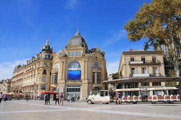 Place de la comédie à Montpellier, France
