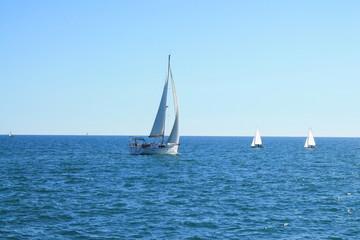 Pratique de la voile en méditerranée, France