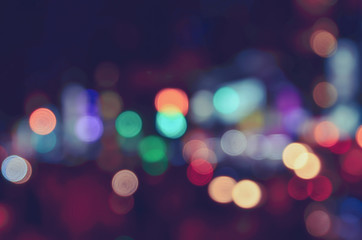 Blurred image of traffic lights. Blur lights. Light bokeh.