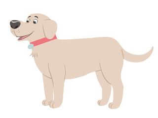 Labrador dog cartoon character