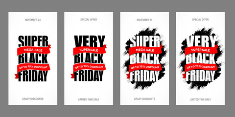 Black Friday sale inscription best design template. Black Friday sale banner.