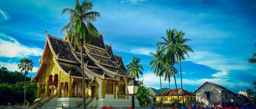 Haw Pha Bang, buddhist temple located in the grounds of the Royal Palace Museum in Luang Prabang, Laos