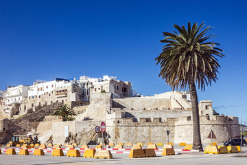 Morocco, Tanger, Medina, Ancient fortress in old town.