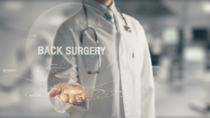 Doctor holding in hand Back Surgery