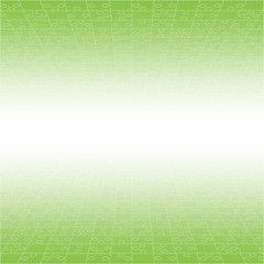 Perspective Green Puzzles Pieces - Vector Jigsaw