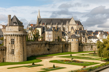 View on the city of Vannes in brittany, France Wall mural