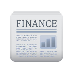 Finance Newspaper - Novo Icons. A professional, realistic, pixel aligned icon.