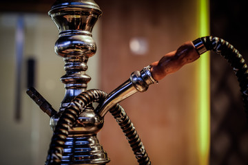 hookah shisha smoke on background.