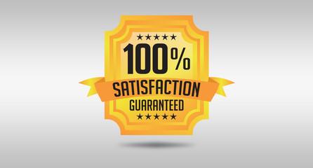 100% Satisfaction Guarantee Seal Design Illustrated