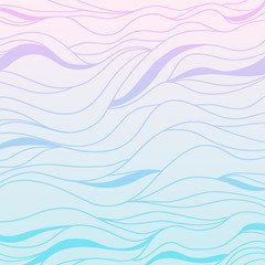 Background. Hand drawn lines. Hair texture. Monochrome wave pattern. Doodle for design. Line art. Design for spiritual relaxation for adults. Wallpaper. Art creative.   Illustration