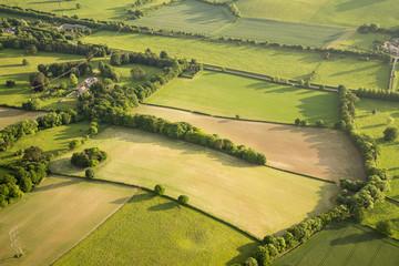 Foto op Aluminium Luchtfoto Aerial view of Buckinghamshire Landscape