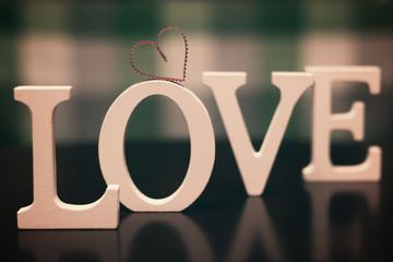 love shape text letter