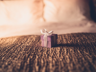 Small present on bed