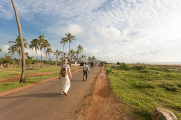 Walking at the beach of Toduwala, Sri Lanka
