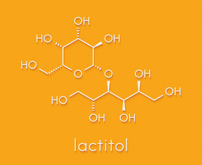 Lactitol sweetener and laxative molecule. Skeletal formula.
