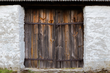 The old wooden door. Background