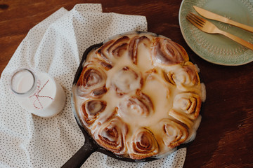 Cinnamon rose cake