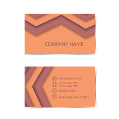 Abstract business card.