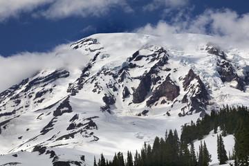 Mount Rainier Cloudy Paradise