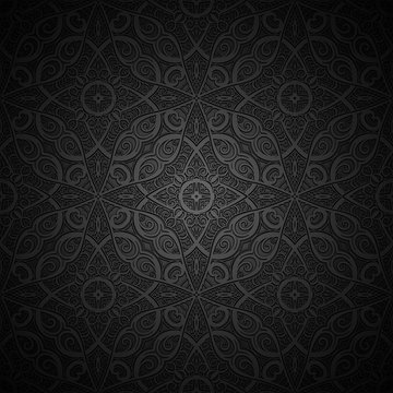 Vintage black background with embossed texture