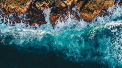 crashing water on the rocks