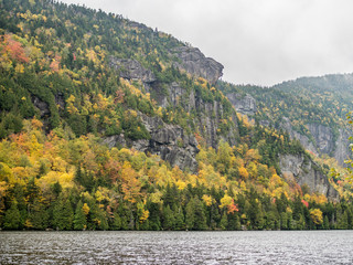 Cliff over Lower Ausable Lake in Adirondacks