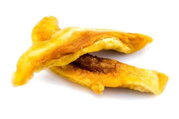 getrocknet Mango Mangofrucht isoliert freigestellt auf weißen Hintergrund, Freisteller