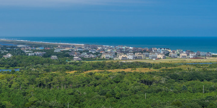Aerial view from the top of Hatteras Lighthouse
