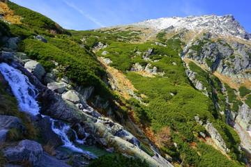 jesień w tatrach dolina 5 stawów, roztoka, świstówka i morskie oko